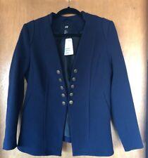 H&M Navy Lined Tailored Blazer Jacket ML