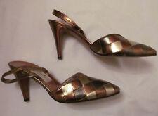 50's vintage Barefoot Originals harley quinn metallc colorblock woven shoes 6 M