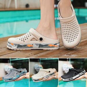 Man Casual Clogs Slippers Beach Swimming Mules Slip On Sports Sandals Summer