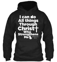 Christian Bible Verse Jesus Christ God - I Can Do All Gildan Hoodie Sweatshirt