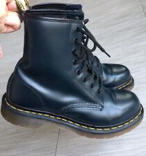 Dr. Martens Blue Boots Size 7 Women's Ankle Platform Classic Doc Pascal Leather