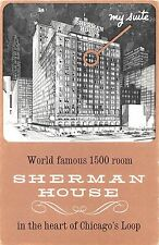IL postcard Chicago Sherman House Hotel in the Heart of Chicagos Loop 1500 rooms