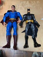 """Mattel 14"""" Superman Returns 13"""" Batman Action Figure Lot DC Comics Poseable"""