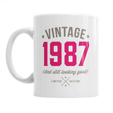 30th Birthday Gift 1987 Present Idea For Men Women Ladies Dad Party Happy 30 Mug