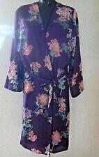 Marks & Spencer Ltd Kimono Top Wrap Robe UK 8 Purple Floral Day Night Wear