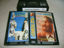 VHS *FREAKS UNCENSORED! - A HUMAN SIDESHOW (1999)* Bohemia Productions Inc.Issue