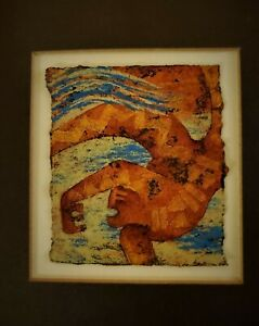 Original Deirdre J. Saunder Art on Handmade paper 1989