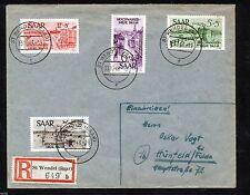 Gestempelte Echtheitsgarantie Deutsche Briefmarken des Saarland (1947-1959)