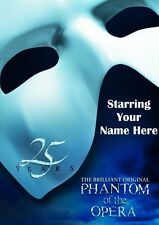 PHANTOM OF THE OPERA | Personalised Poster | West End | FREE POST | (TP008)