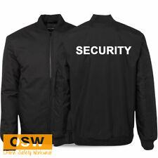 Black Security Printed Work Uniform Padded Warm/Winter Flying Jacket S-6Xl