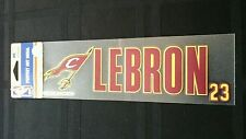 """LEBRON JAMES CLEVELAND CAVALIERS  PERFECT CUT DECAL 3""""X10"""" BLOWOUT PRICE!"""