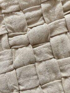 "TOMMY BAHAMA Basketweave Pillow Cover 16"" Throw  Pillow Tan Cotton Coastal Beach"