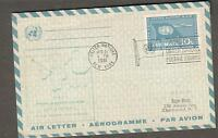 1961 first flight aerogramme cover Pan Am jet UN NY United Nations to Oslo