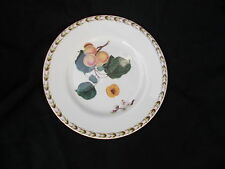 Queens HOOKERS FRUIT Dessert Plate. Apricot. Diameter 8 3/4 inches.