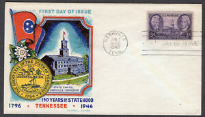 1946 Tennessee Statehood 150th - Fluegel FDC QH324