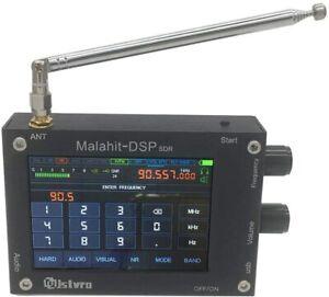 50K-2GHz (1.10b) Malachite DSP SDR malahit AM NFM SSB WFM RECEIVER WITH SPEAKERS