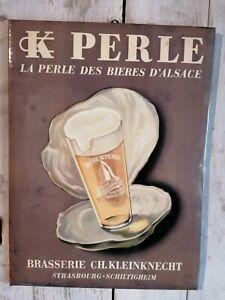 Plaque Glaçoide Publicitaire  Bière  CK PERLE SCHILTIGHEIM