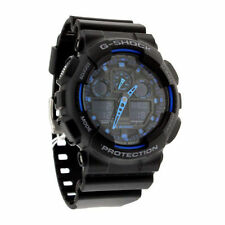 New CASIO Men's G-Shock Watch GA-100-1A2  Black Resin Watch