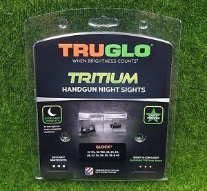 TruGlo Tritium Handgun Night Sights for Glock 17 19 22-24 26 27 Green - TG231G1