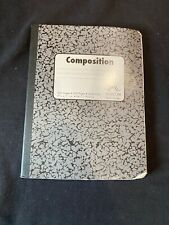 Norcom 100 Sheet/200 Pages Black Wide Ruled Composition Notebook 9.75� x 7.5�