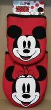 Disney MICKEY MINNIE MOUSE Faces 2-Pack Oversized Mini Oven Mitts Pot Holder NEW