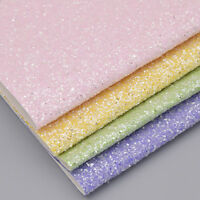 A4 Sheet Chunky Glitter Leather PU glitter Fabric for DIY Sewing Garment Craft