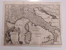 1723 Van der Aa Mappa Italia Antiqua Cum Insulis Sicilia Sardinia et Corsica