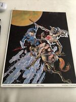 "Counter Top Display Plaque ""Free-Fall"" by Bernie Wrightson 1978 Sal Quartuccio"
