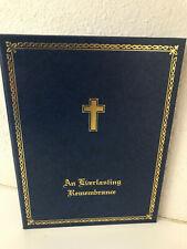 Wedding Keepsake Certificate Book Holder An Everlasting Remembrance Blue & Gold