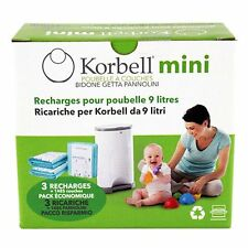 Korbell Recharge Mini Blue 9L Pack of 3