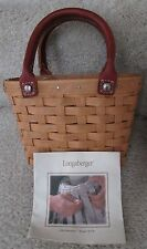 2003 Longaberger Little Boardwalk Basket with Protector 10578 Gary Lynn Signed