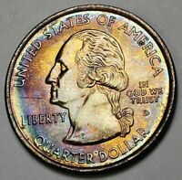 2001-D RHODE ISLAND STATE QUARTER COLOR NATURAL TONED CHOICE BU MUST HAVE