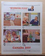 1939 magazine ad for Canada Dry Ginger Ale - Oscar Levant John Kieran Milt Cross