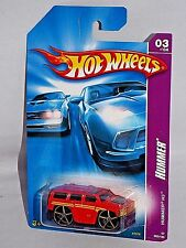 Hot Wheels 2007 Hummer Series #063 Hummer H3 Red w/ Large OH5SPs