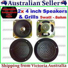 2x SPEAKERS & 2x GRILL set 5watt 8ohm - Arcade / Mame / Pinball