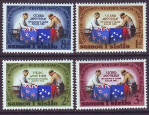 Samoa 1964 SC 237-240 MH Set Friendship Treaty