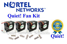 Set of 4x Quiet Fans for Nortel BayStack 5520-48T Best for Home Networking
