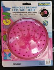 """NEW LED Princess Dreams Tap Light Projects Crowns on Ceiling Pink 6"""" Meridian"""