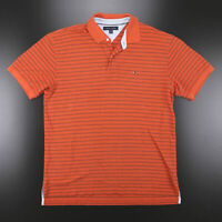 TOMMY HILFIGER  Orange Classic Short Sleeve Polo Shirt Mens XL