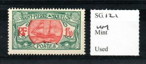 St. Pierre & Miquelon 1909 1f10 red & green SG121 MNH