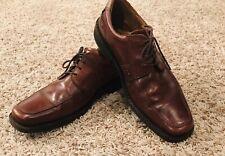Ecco  Square Toe Lace Up Oxford Brown Dress Casual Men's US 12.5 EU 44