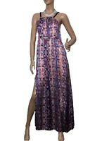 PIPER SIZE 12 LIGHTS & AIRY LONG MAXI SATIN DRESS