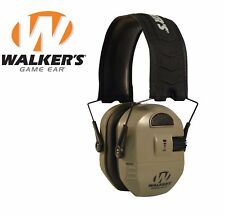 Walker's Ultimate Alpha Power Muff Electronic Earmuffs (NRR 26dB) Earth Shooting