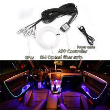 6in1 RGB LED 8M Car Interior Decor Neon EL Strip Light Bluetooth App Control 12V
