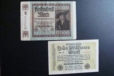 Germany 2 Banknotes 1922-1923