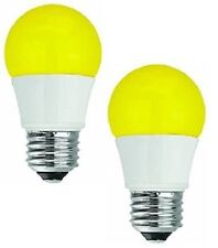 TCP 40W Equivalent LED Yellow Bug Light Bulbs Non-Dimmable (2 Pack) 2 Pack