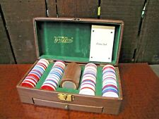 Vintage Pavilion Dominos Unused In Box & Griffon Poker Chips Dice & Cards Set.