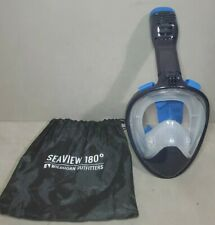 RARE!! Mens Wildhorn Seaview 180 Full Face Snorkel Mask