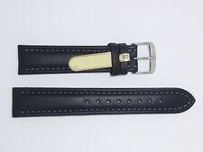"DI-Modell Genuine Calfskin Leather 20 mm BLACK Watch Band ""GAUCHO CHRONO"""