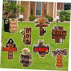 Halloween Decorations Outdoor Yard-Signs - Large-Corrugate-Warning Yard Signs